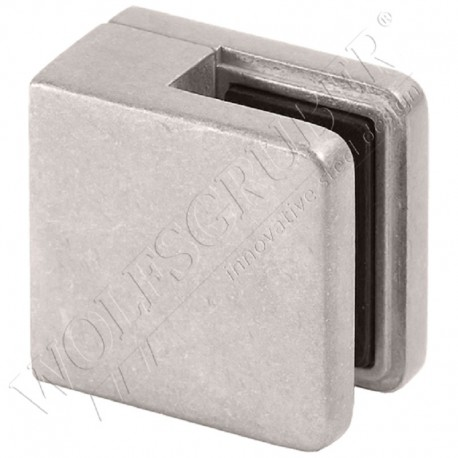 Pince à verre en zamac pour plat - Dimension 45x46 (épaisseur verre 44/2)