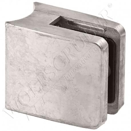 Pince à verre en zamac pour tube de diamètre 42,4 - Dimension 55x55 (épaisseur verre 55/2)