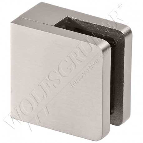 Pince à verre en inox pour plat - Dimension 48x46 (épaisseur verre 33/2)