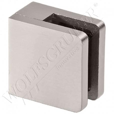 Pince à verre en inox pour plat - Dimension 48x46 (épaisseur verre 44/2)