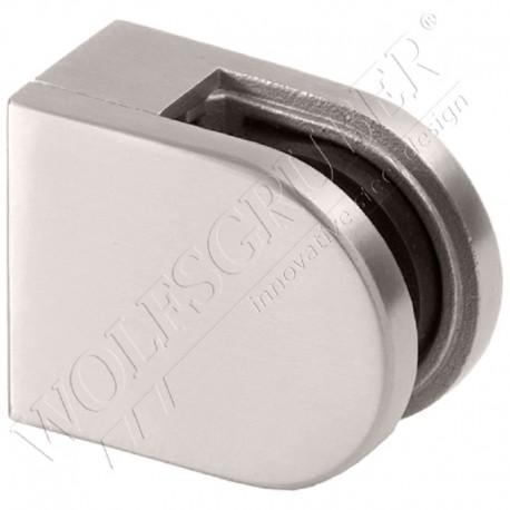 Pince à verre en inox pour plat - Dimension 50x40 (epaisseur verre 44/2)