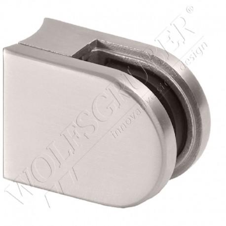 Pince à verre en inox pour tube de diamètre 33,7 - Dimension 50x40 (épaisseur verre 44/2)