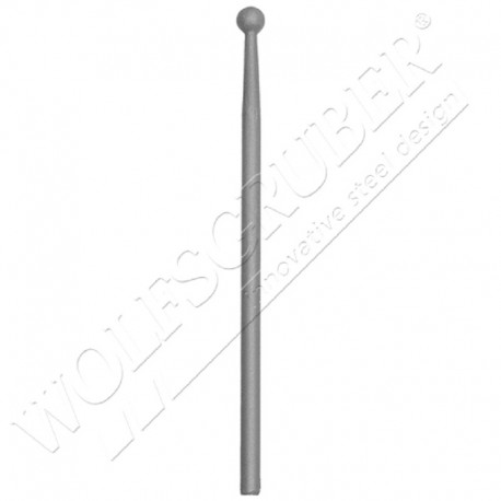 Barreau de diamètre 12mm, Longueur 1000mm - Pointe boule de largeur 18mm