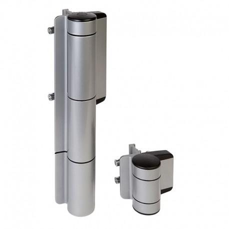 Ferme-porte hydraulique et charnière 180° - Couleur argent