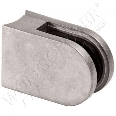 Pince à verre en zamak pour tube de diamètre 42,4 - Dimension 62x45 (épaisseur verre 55/2)
