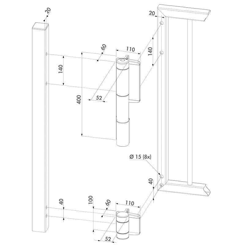 charni re et ferme porte hydraulique rolling center france. Black Bedroom Furniture Sets. Home Design Ideas