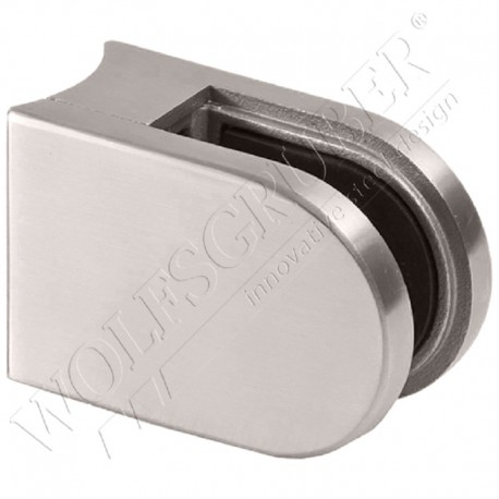 Pince à verre en inox pour tube de diamètre 48,3 - Dimension 62x45 (epaisseur verre 44/2)
