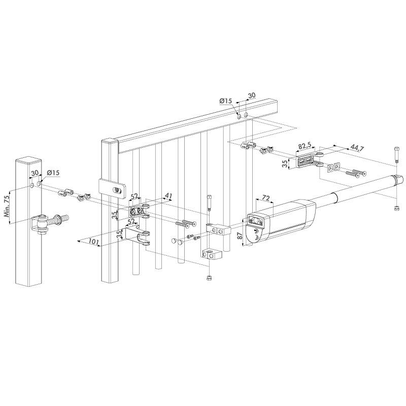 ferme porte et portail hydraulique horizontal rolling center france. Black Bedroom Furniture Sets. Home Design Ideas