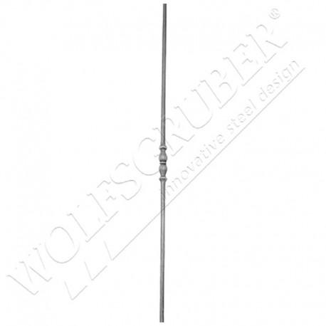 Barreau en fer forgé diamètre 12mm, Longueur 1000mm - 1 double noeud
