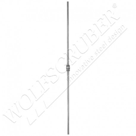 Barreau de diamètre 12mm, longueur 1000mm - 1 noeud central