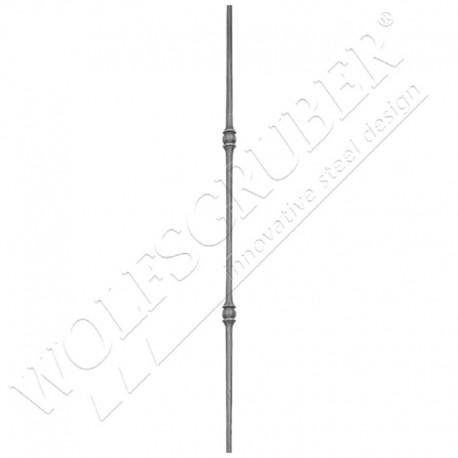 Barreau de diamètre 12mm, Longueur 1000mm - 2 noeuds