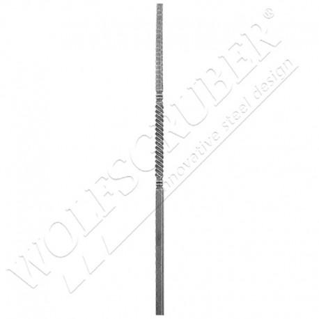 Départ de rampe carré 25mm, Longueur 1200mm