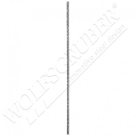 Barreau martelé carré 14mm, Longueur 1000mm - droit