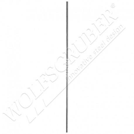 Barreau carré de 12mm, Longueur 1000mm - 1 torsade