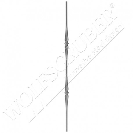 Barreau de diamètre 14mm, longueur 1000mm - 2 noeuds éloignés