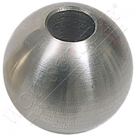 Sphère avec trou borgne en fer forgé - Diamètre 35