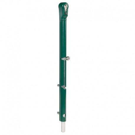 Verrou de sol verrouillable avec tige en aluminium couleur vert
