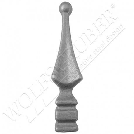 Pointe de lance pour barreau carré - Dimension 125x30