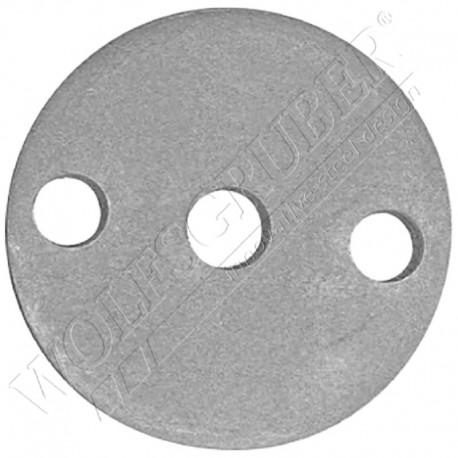 Embase de fixation en fer forgé - Diamètre 100