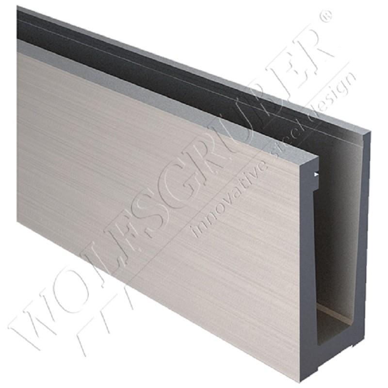 profil pour verre en aluminium fixation au sol rolling center france. Black Bedroom Furniture Sets. Home Design Ideas