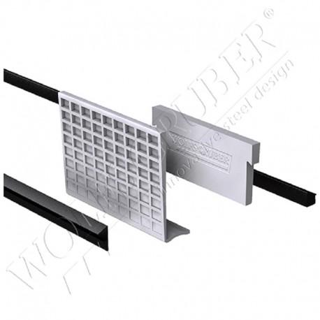 Kit de fixation et joint pour profil verre - épaisseur 13,52mm
