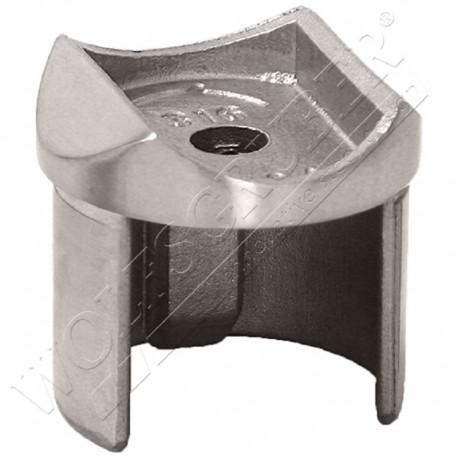 Support main-courante pour tube cannelé de diamètre 48,3