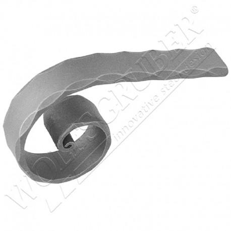 Départ de main courante en forme de O - Dimension 40x8