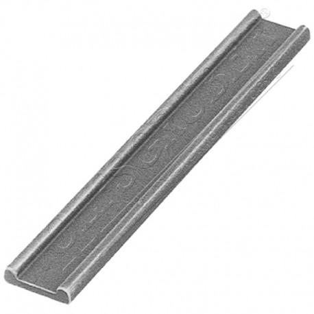 Barre moulurée en fer forgé - Dimension 30x8