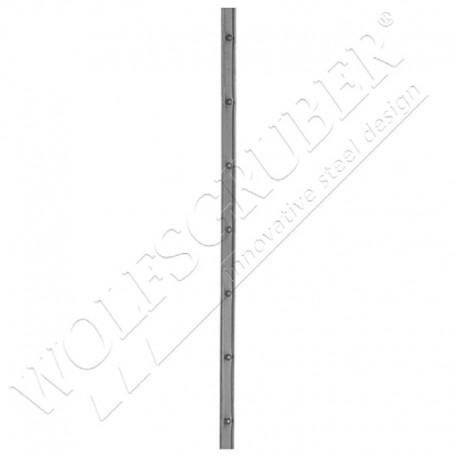 Barre poinçonnée en fer forgé - Dimension 30x8