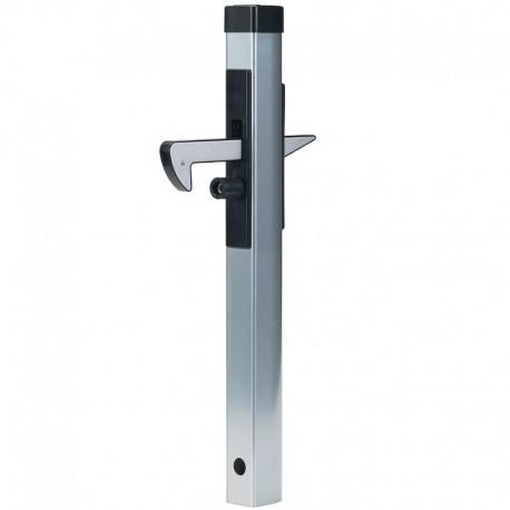 Arrêt de porte en aluminium à crochet inférieur