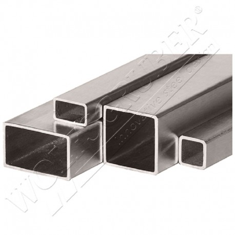 Tube carré en inox de 40mm