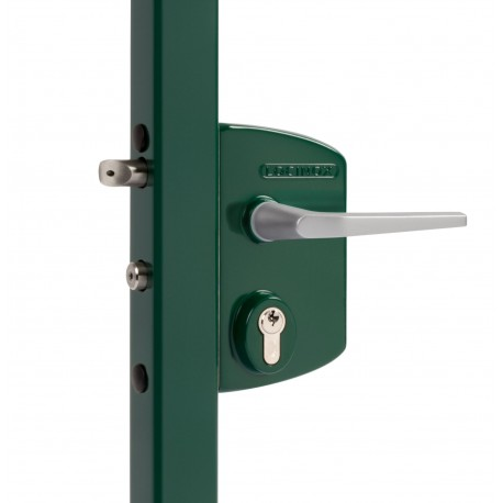 Serrure type industriel coffre vert profil 60/70 - Portail battant