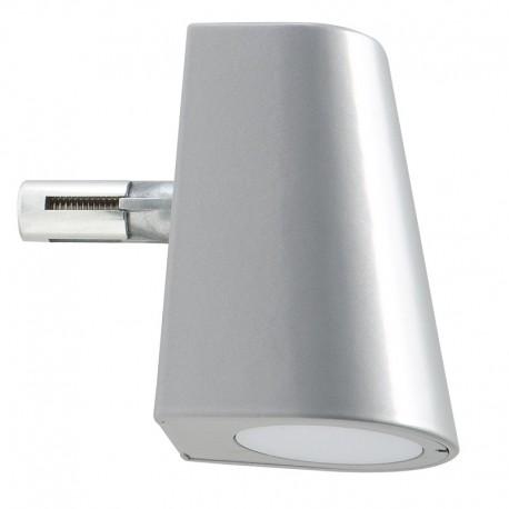 Lampe LED design pour poteau argent