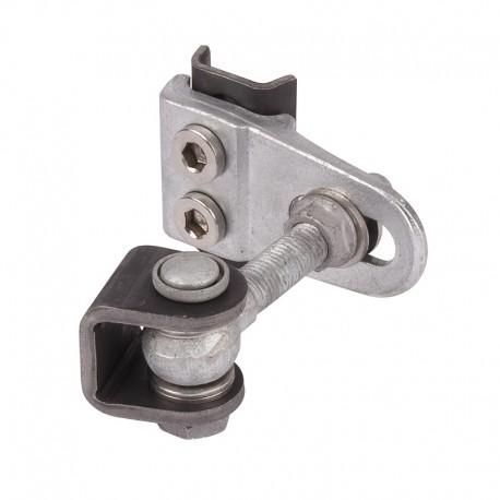 Charnière réglable 4D zinguée - M16 (par 2 pièces)