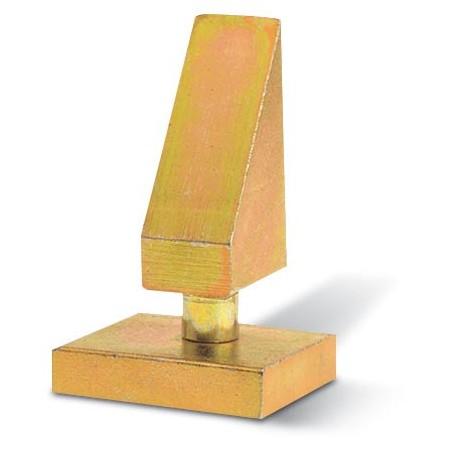 Plaque et pivot pour portail battant - Embase carré de 35