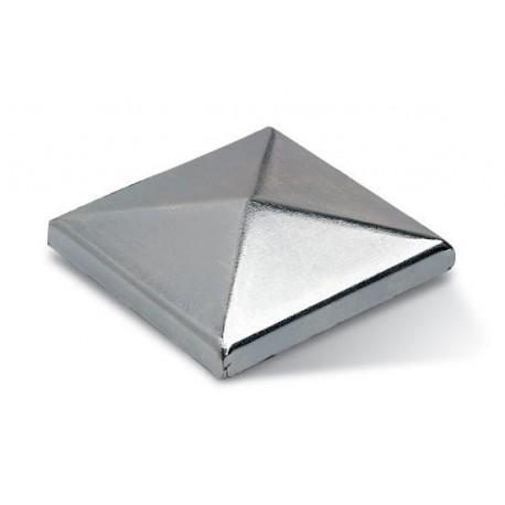 Chapeau carré en acier zingué à souder - Dimension de 30