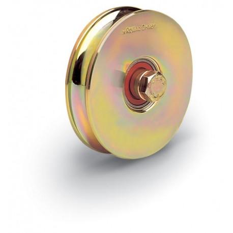 Roue 1 roulement avec boulon traversant - Diamètre 120 - Gorge O de 16mm