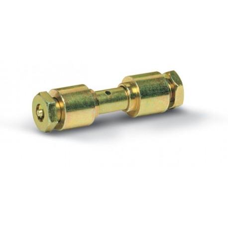 Axe avec graisseur pour roues de diamètre 100-120-140 / Pour tube de 80