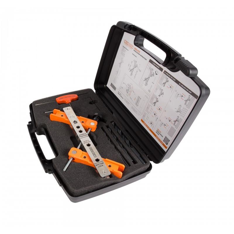 Gabarit de per age pour serrures et g ches coffret outils - Gabarit de percage ...