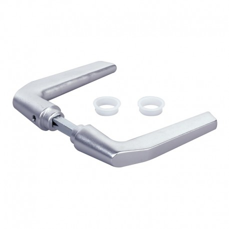 Paire de poignées en aluminium pour serrure hybrid