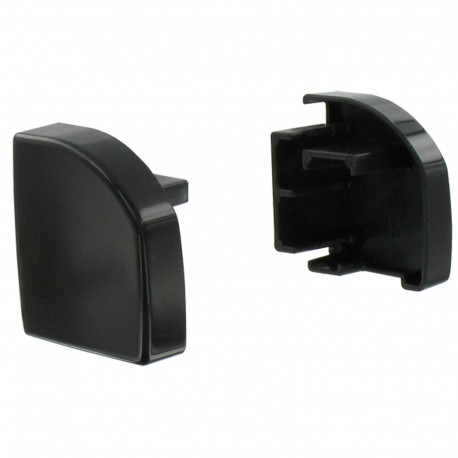 Embout de rail de guidage (par 2 pièces) - Couleur noir