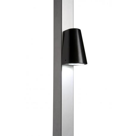 Lampe LED design pour poteau - Coffre couleur noir