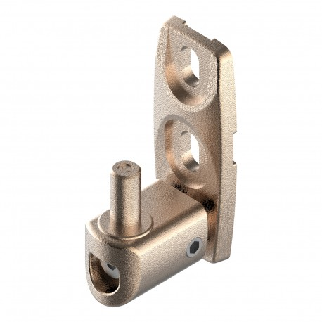 Gond orientable en aluminium brut - Axe 40-50