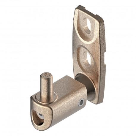 Gond orientable en aluminium brut - Axe 60-85