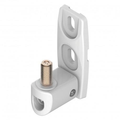 Gond orientable en aluminium couleur blanc - Axe 40-50
