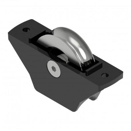 Galet semi-encastré en acier - Chape couleur noir