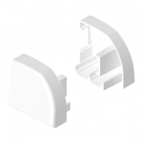 Embout de rail de guidage (par 2 pièces) - Couleur blanc
