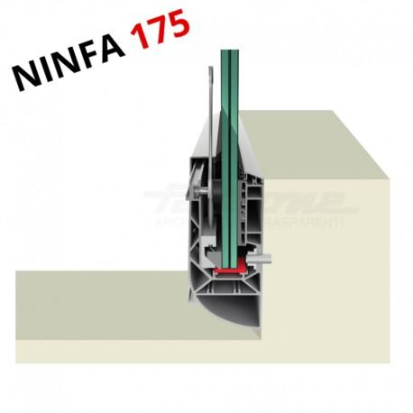 Profil en applique sur l'acrotère pour garde-corps - 10/10 anodisé