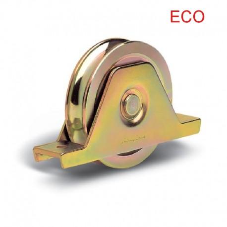 Roue éco 2 roulements avec support plié interne Ø140 - Gorge O