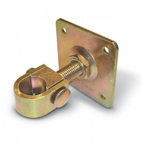 Gond à collier avec plaque - série fer forgé diamètre 30